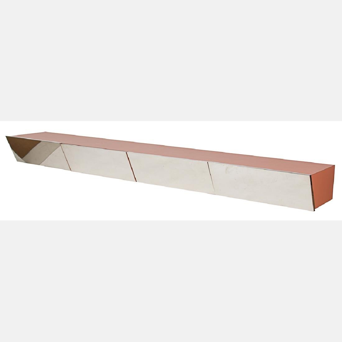 A Pace Collection Laminate and Mirror Hanging Console,