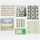 A Collection of US Postage Commemorative Sheets,