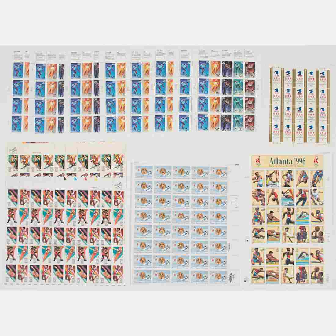 A Collection of US Postage Commemorative Stamp Sheets
