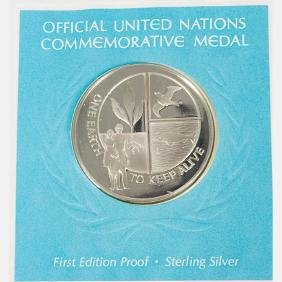 A Collection Of Untied Nations Medallic First Day