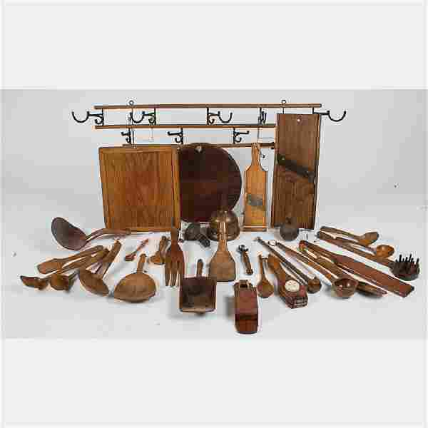 A Miscellaneous Collection of American Carved Hardwood