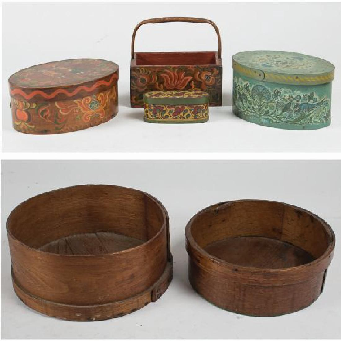 Two American Shaker Baskets, 19th Century,