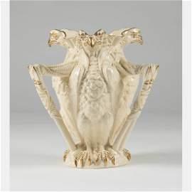 A W.T. Copeland & Sons Porcelain Eagle Form Vase with