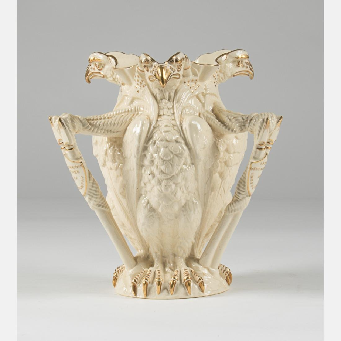 A W.T. Copeland & Sons Porcelain Eagle Form Vase with