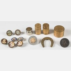A Miscellaneous Collection Of Metal Souvenirs And