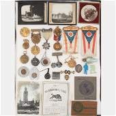 A Miscellaneous Collection of Metal Silk Glass and