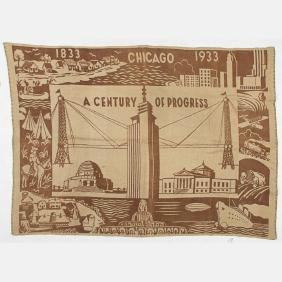 A Wool Blanket From The Century Of Progress World's