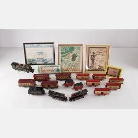A Collection Souvenir Toy Trains From The Century Of