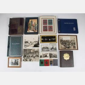 A Collection Of Scrapbooks, Photographs And Photo Album