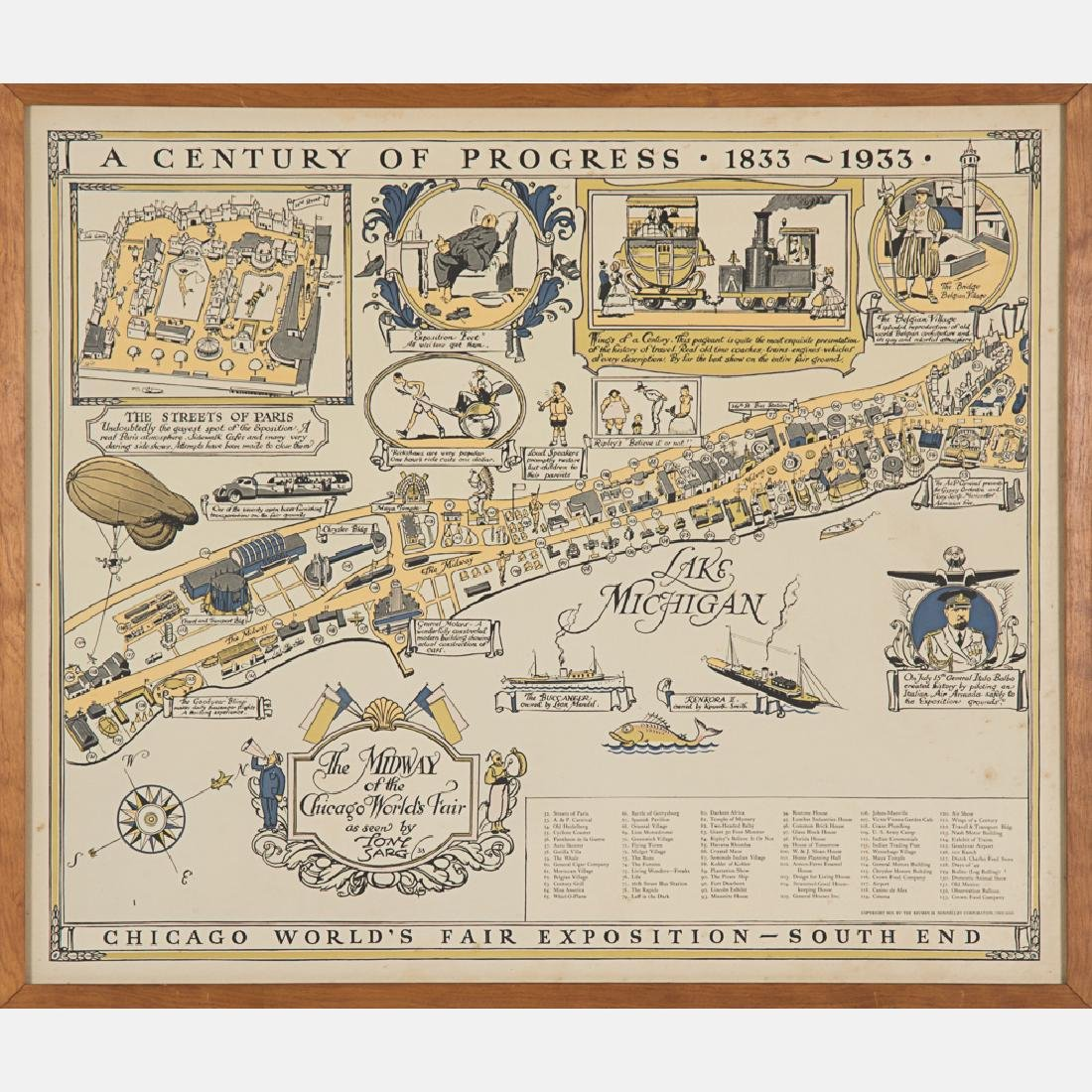A Tony Sarg Midway Map from the Century of Progress