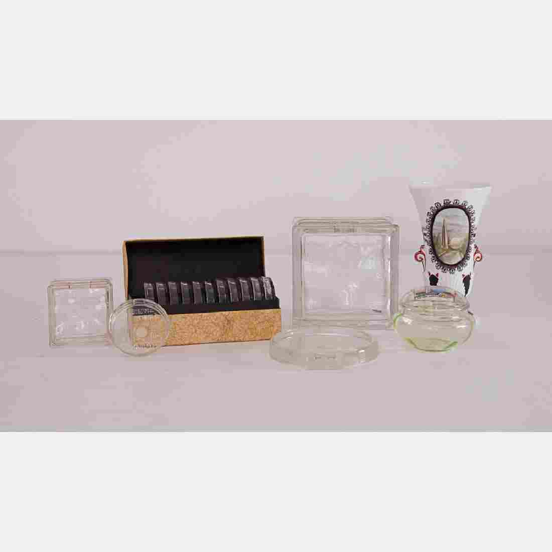 A Miscellaneous Collection of Clear Glass Souvenirs