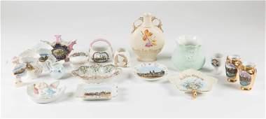 A Miscellaneous Collection of German Porcelain Souvenir
