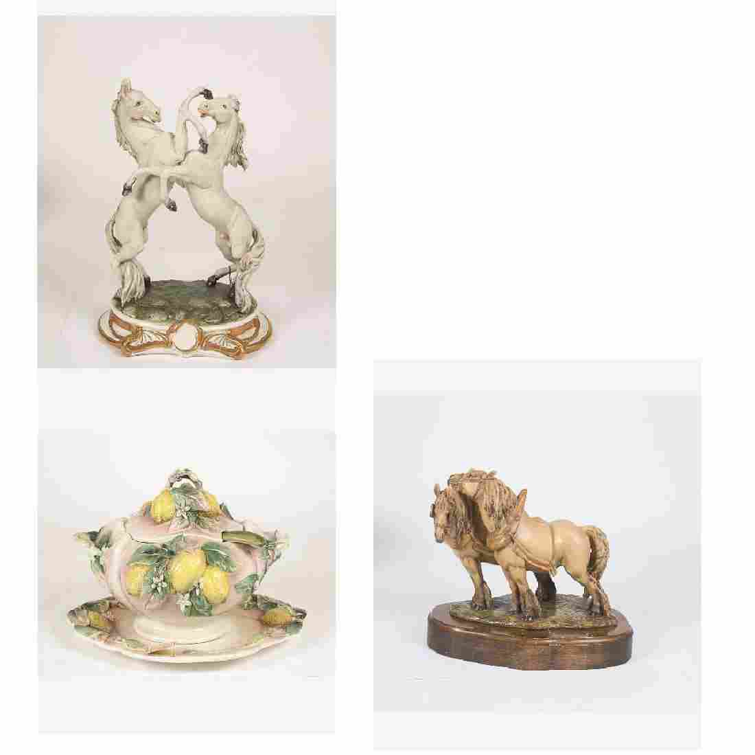 A Miscellaneous Collection of Capodimonte Porcelain and