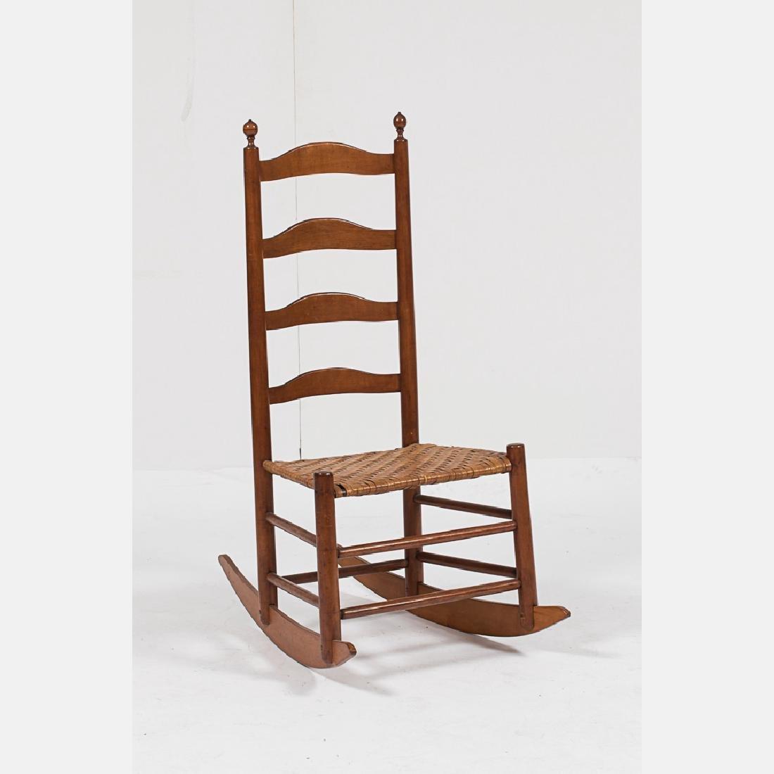 American Shaker Cherry Ladder Back Rocking Chair