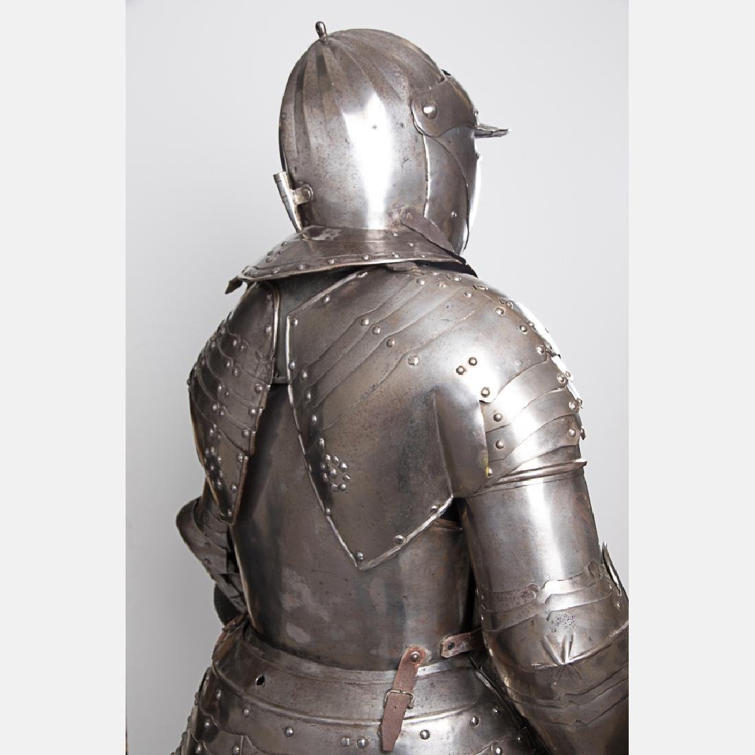 A Complete Set of English Three Quarter Suit of Armor, - 10