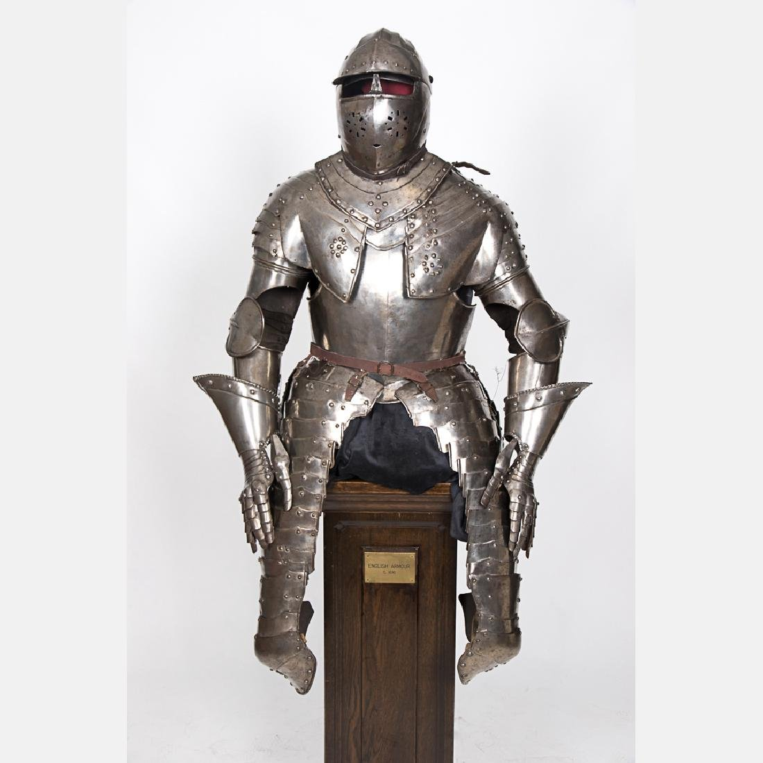 A Complete Set of English Three Quarter Suit of Armor,