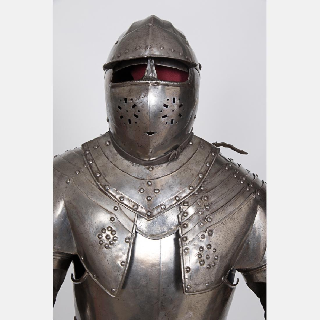 A Complete Set of English Three Quarter Suit of Armor, - 2