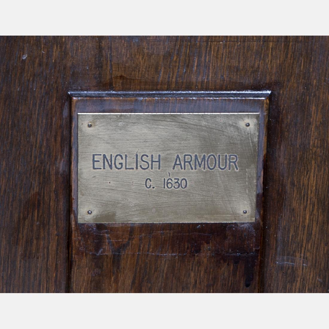 A Complete Set of English Three Quarter Suit of Armor, - 7