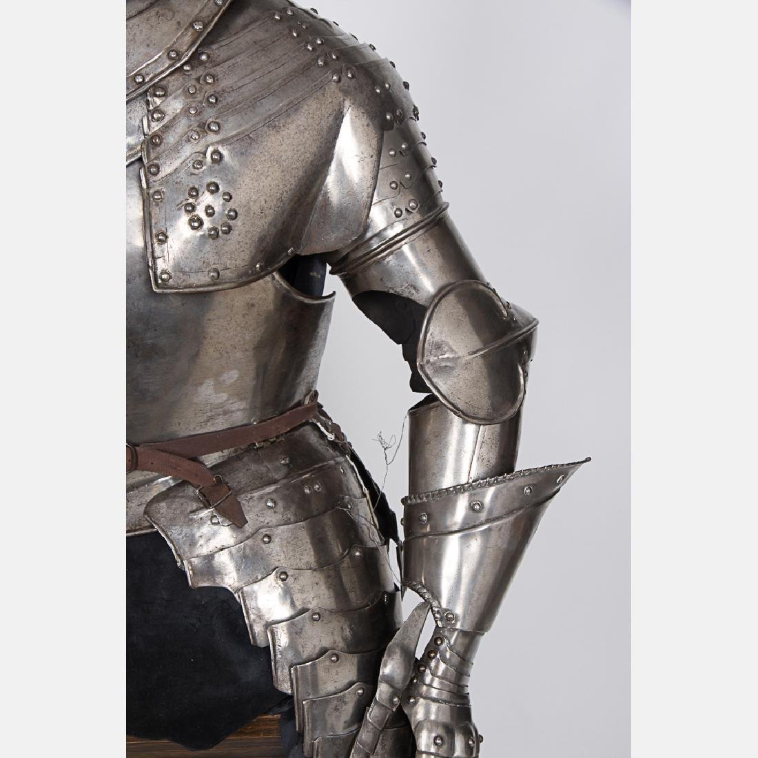 A Complete Set of English Three Quarter Suit of Armor, - 8