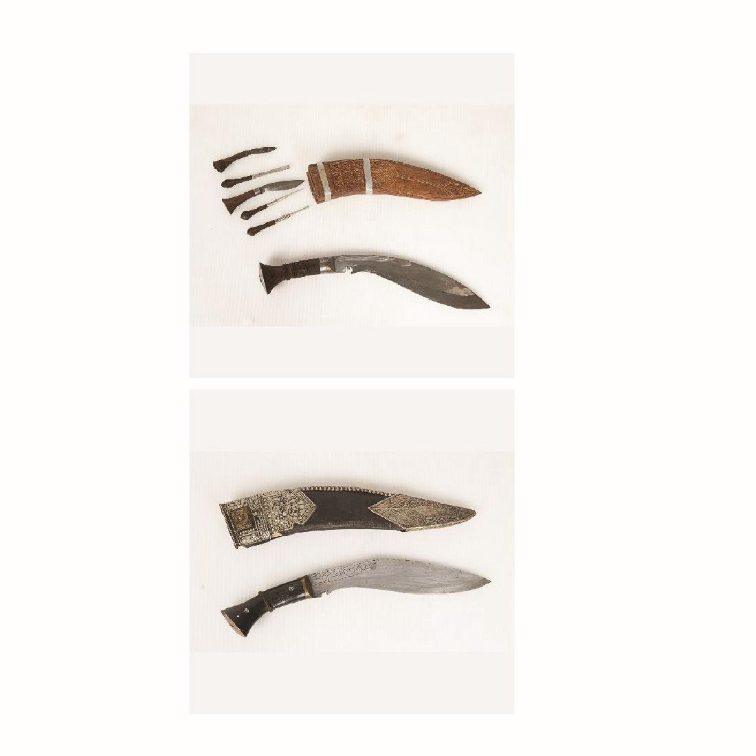 Two Gurkha Kukri Knives, Nepal, 19th/20th Century,