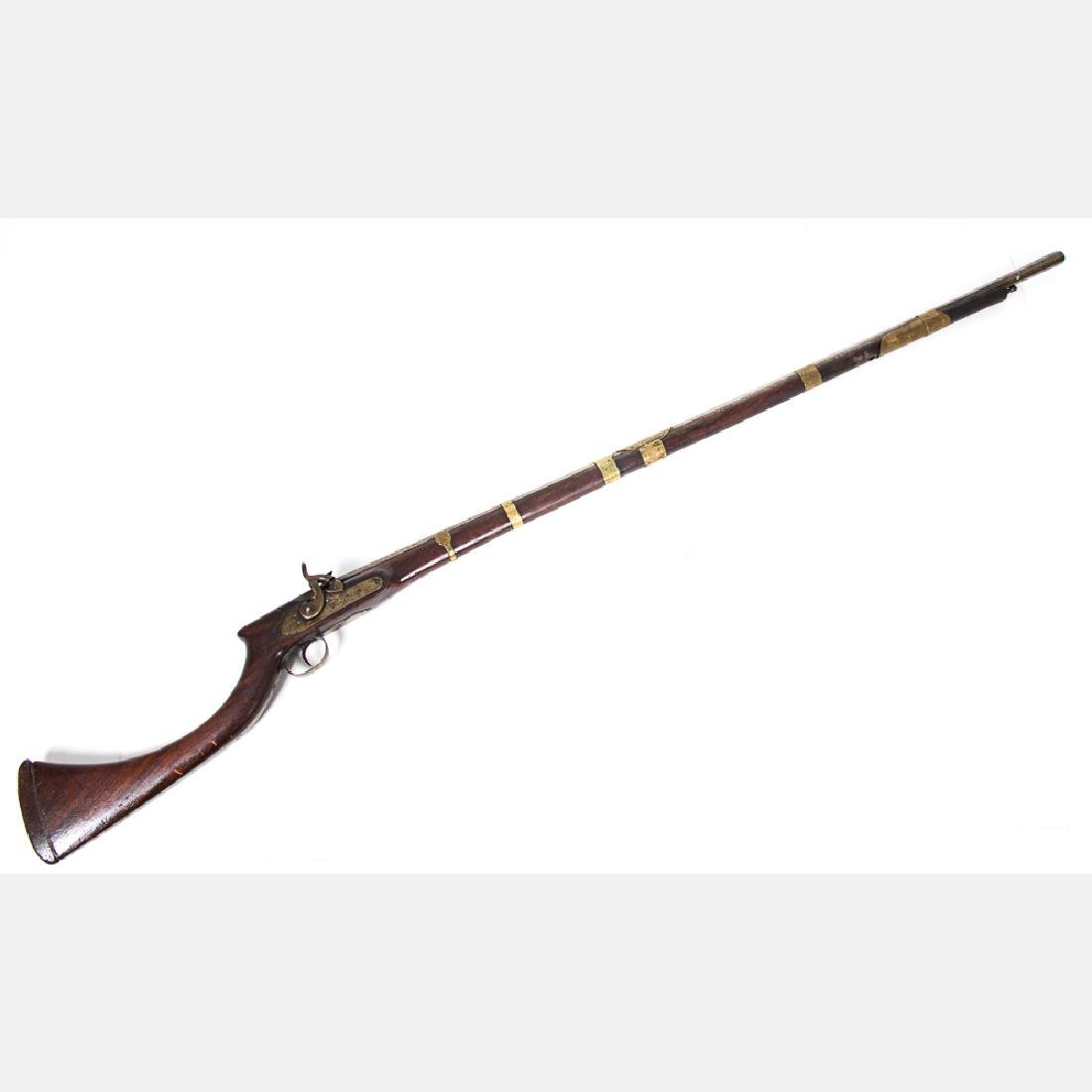 An Afghan Jezail Percussion Rifle, 19th Century,
