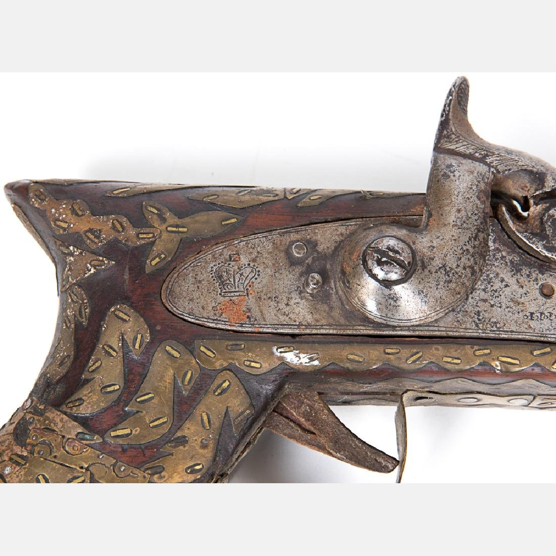 A Middle Eastern Percussion Rifle, 19th Century, - 2