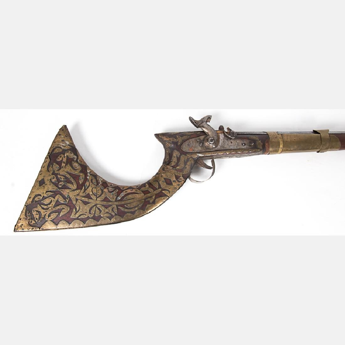 A Middle Eastern Percussion Rifle, 19th Century, - 5