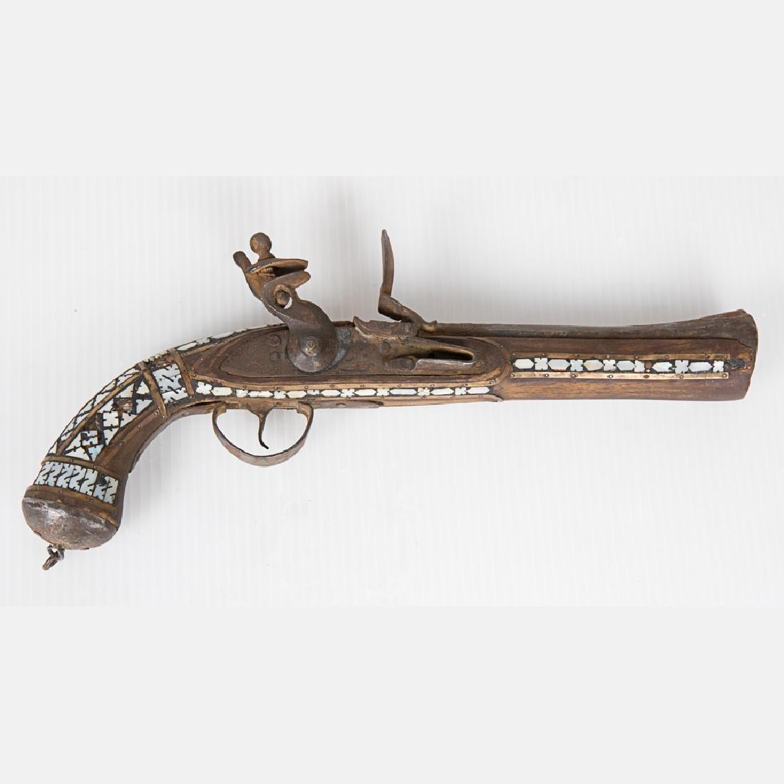 A Middle Eastern Flintlock Pistol, 19th Century, - 2