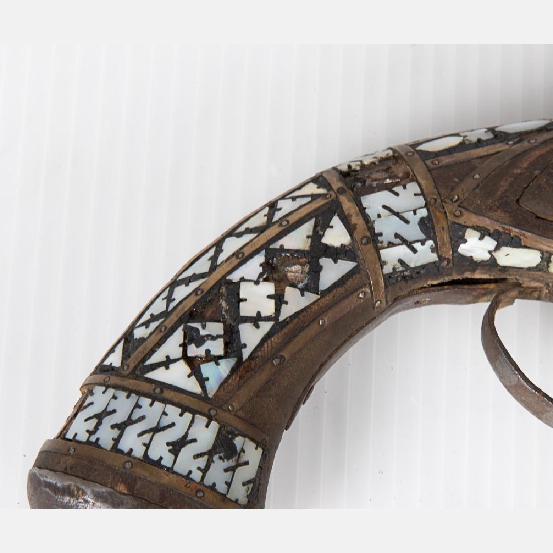 A Middle Eastern Flintlock Pistol, 19th Century, - 3