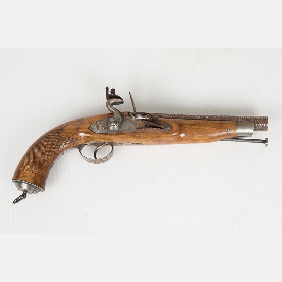 A Middle Eastern Flintlock Pistol, 19th Century,