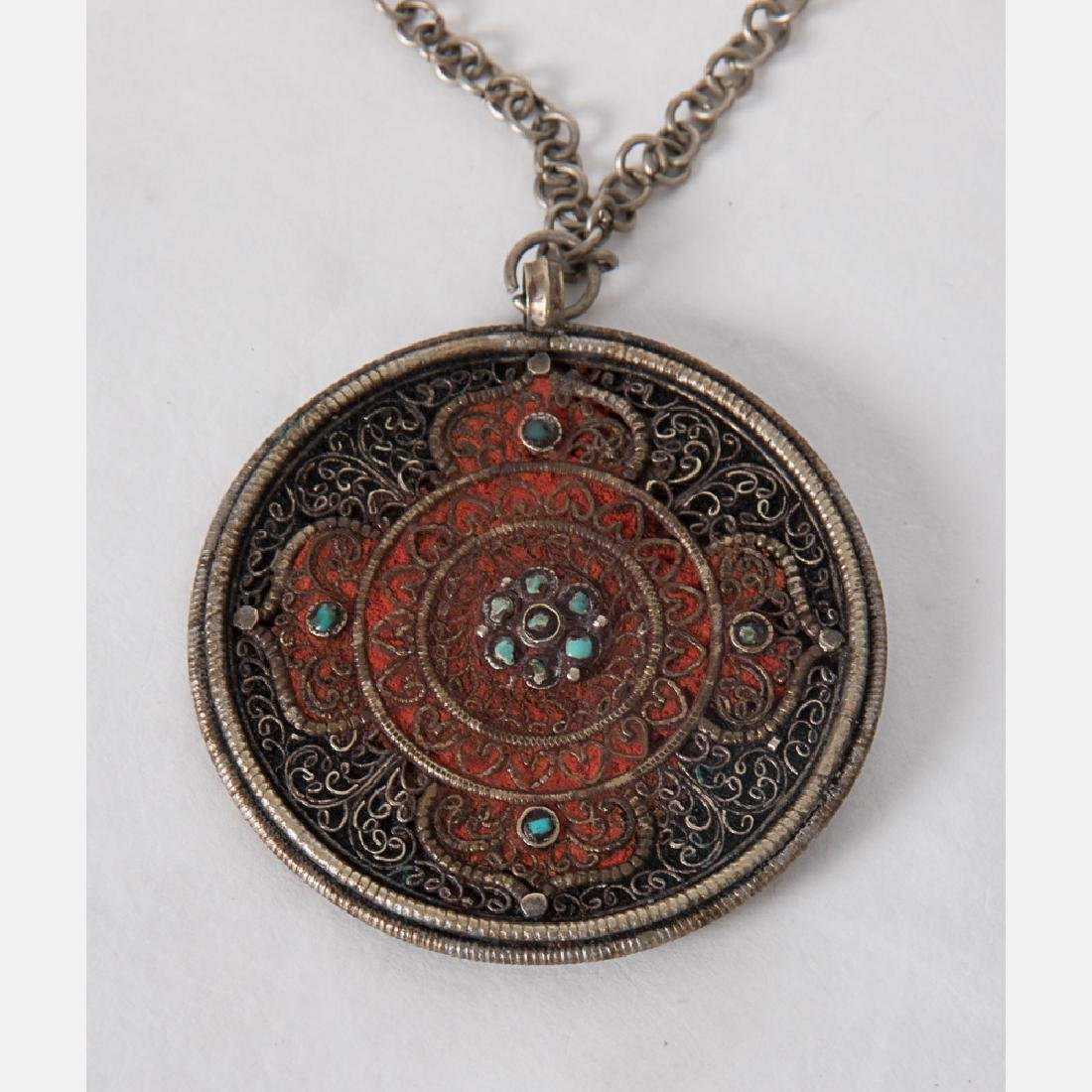 A Collection of Tibetan Silvered Metal, Brass, - 3