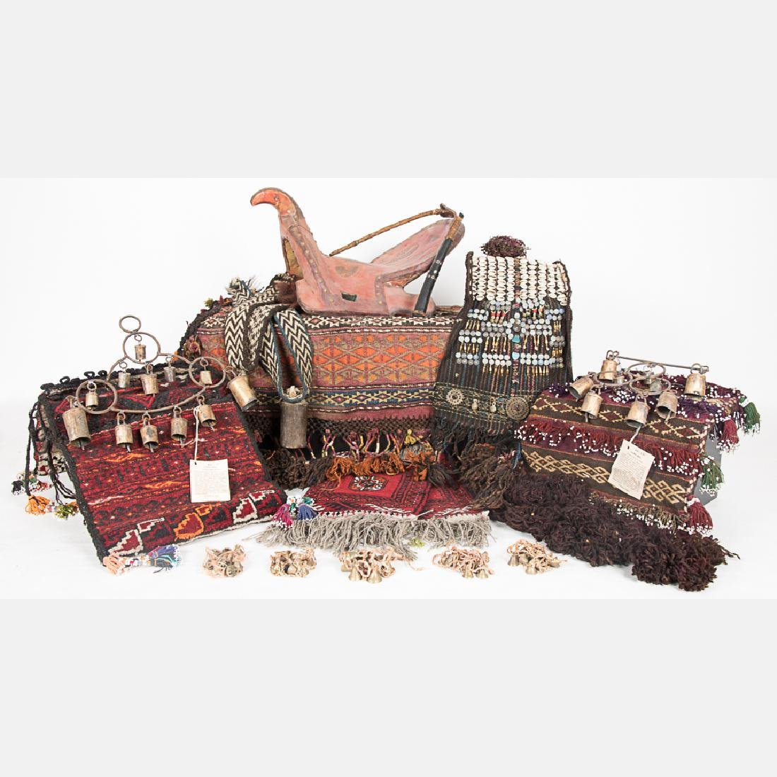 A Collection of Middle Eastern Woven Saddle and Saddle