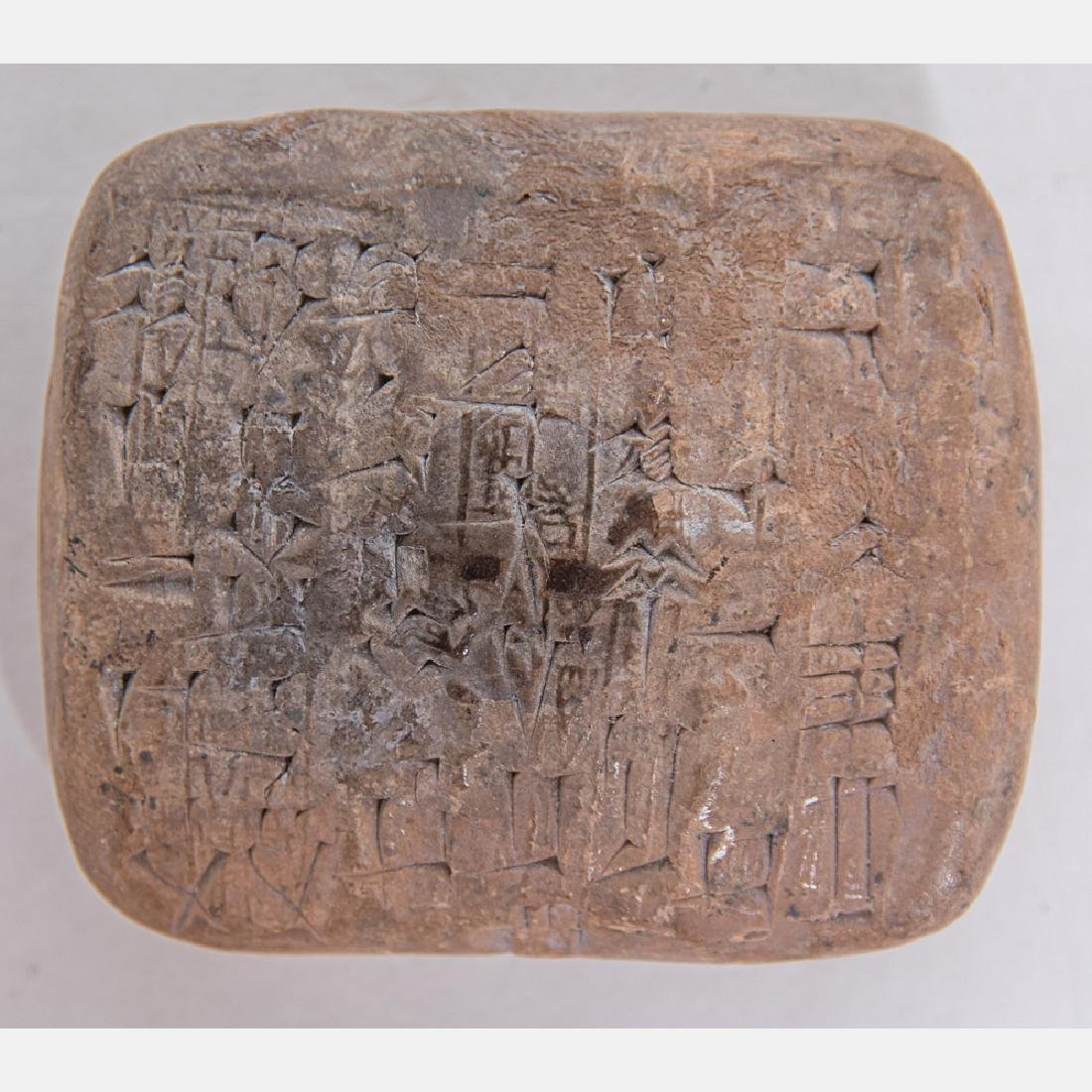 A Cuneiform Tablet from Ancient Sumer, dates from c.