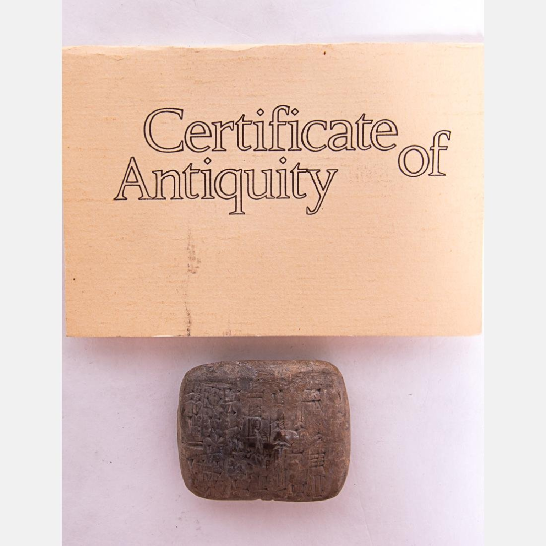 A Cuneiform Tablet from Ancient Sumer, dates from c. - 3