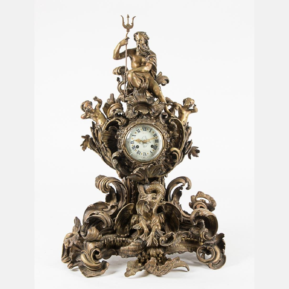 A Rare Tiffany & Co. Bronze Mantel Clock, 20th Century,