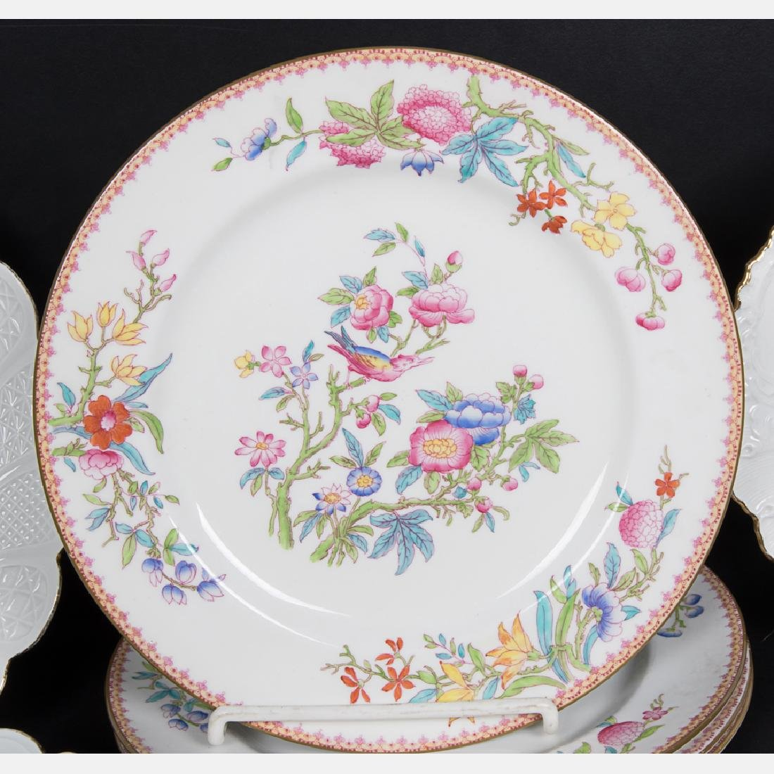 A Partial Set of Meissen Porcelain Cups and Saucers, - 3