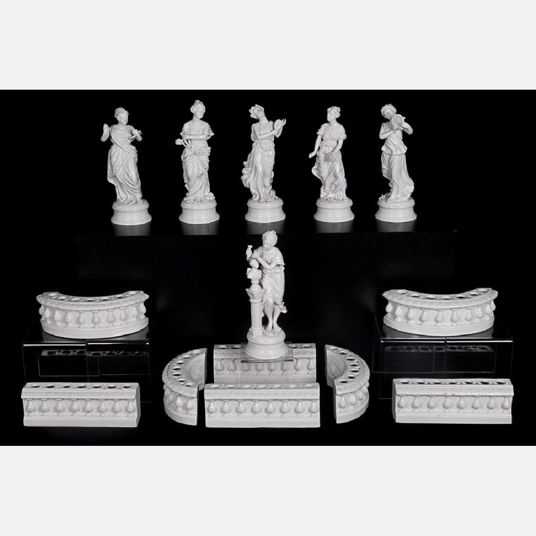 A Capodimonte Blanc de Chine Porcelain Table