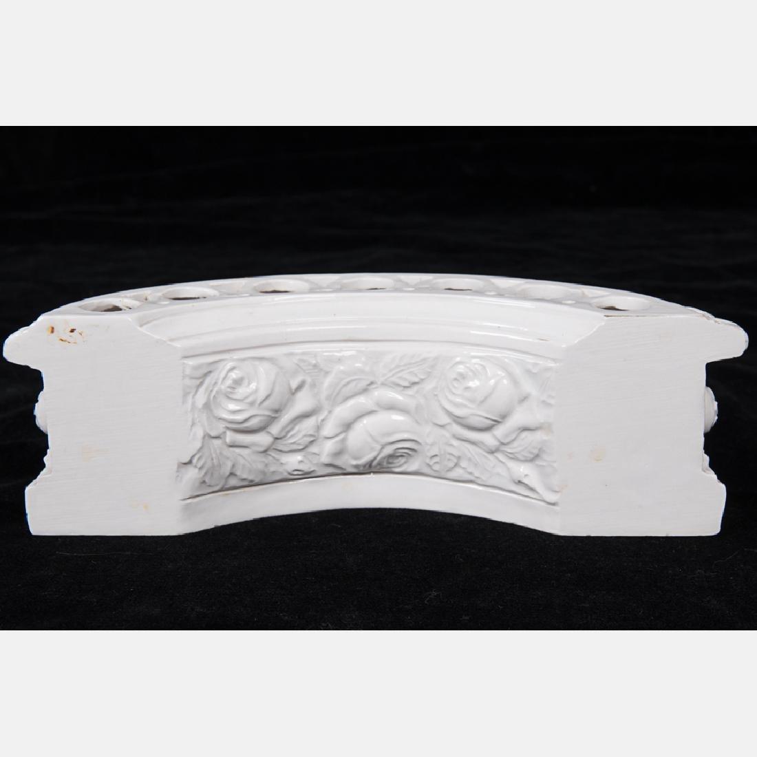 A Capodimonte Blanc de Chine Porcelain Table - 5