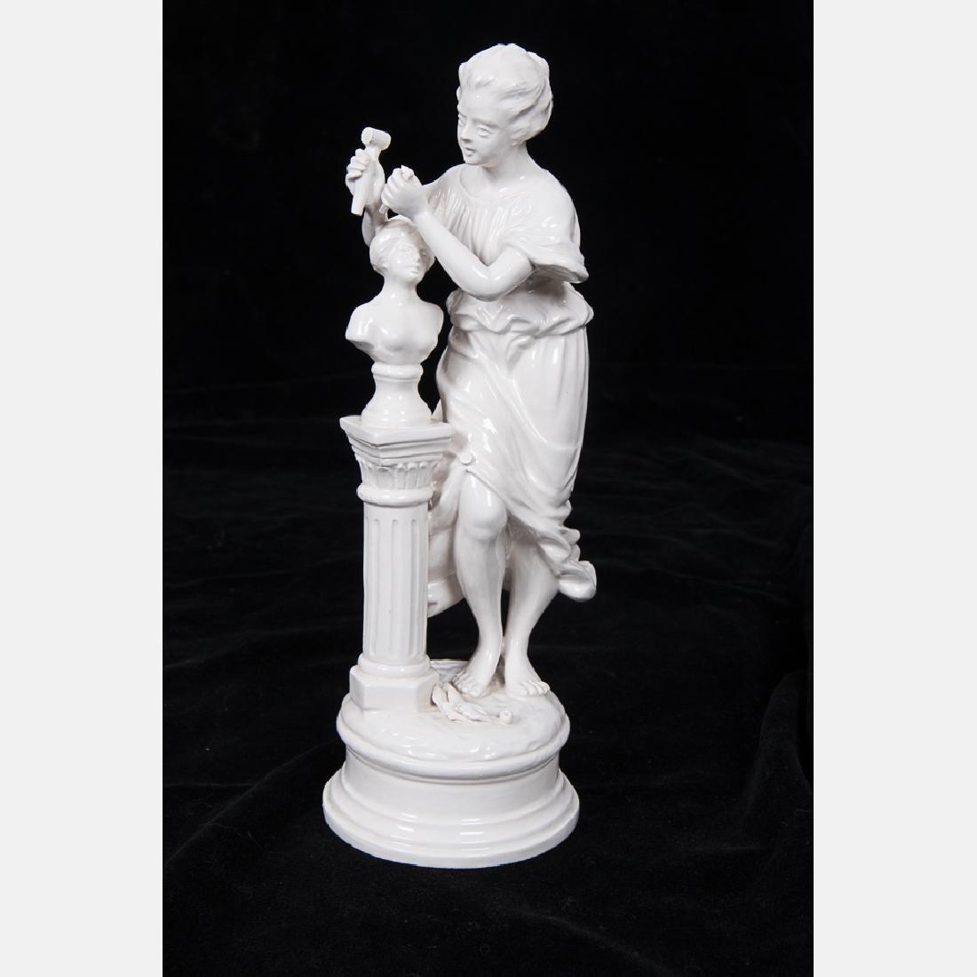A Capodimonte Blanc de Chine Porcelain Table - 6
