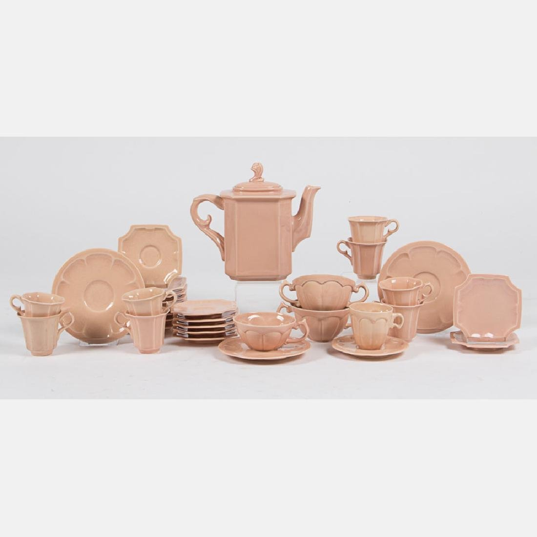 A Cowan Pottery Partial Tea and Coffee Service in the