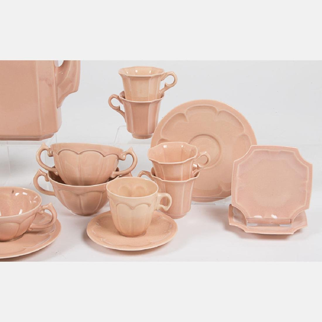 A Cowan Pottery Partial Tea and Coffee Service in the - 5