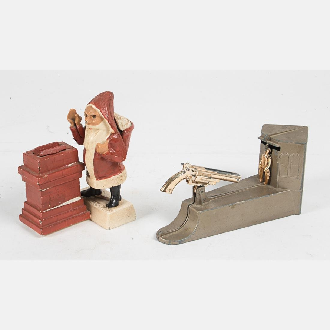 A Cast Iron Reproduction 'Santa-Claus' Mechanical Bank,