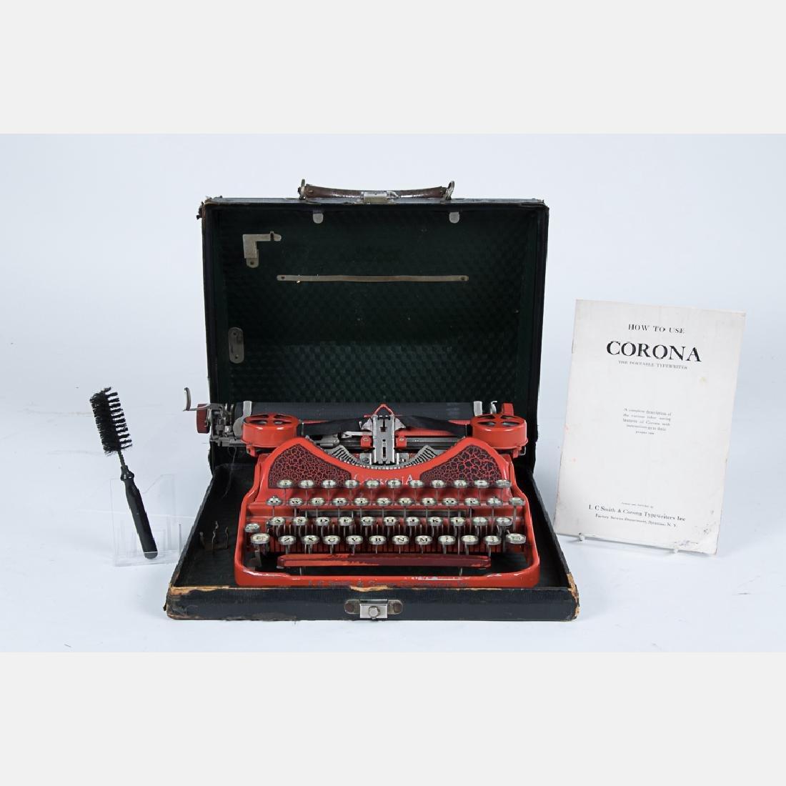 A Vintage Corona Typewriter, 20th Century, - 2