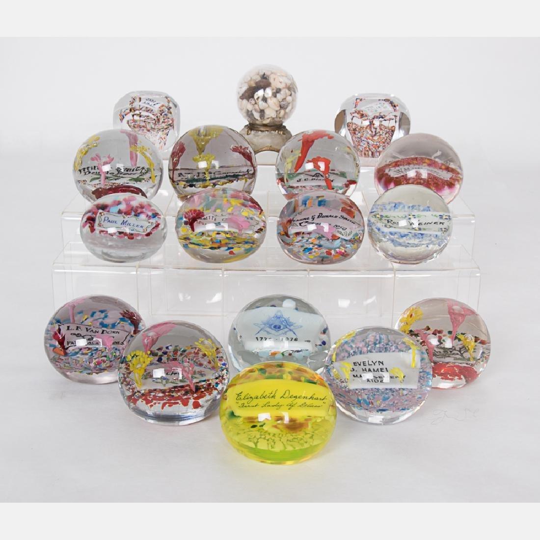 A Collection of Eighteen Degenhart Art Glass