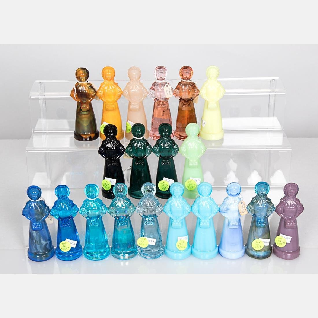A Collection of Twenty Colored Glass 'Priscilla