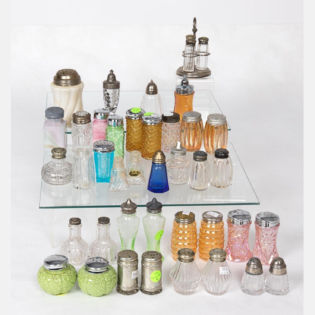 A Collection of Molded and Pressed, Colored, Clear and