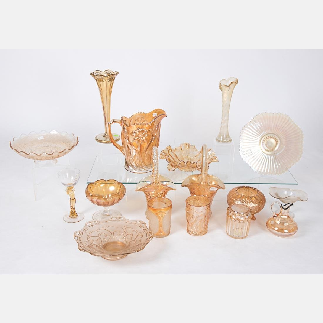 A Collection of Marigold Carnival Glass by Various
