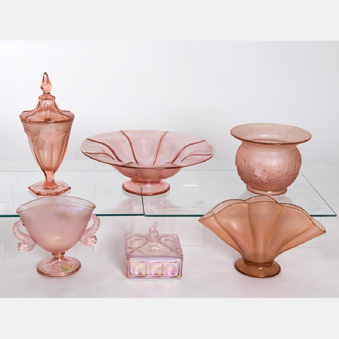 A Miscellaneous Collection of Fenton Stretch Glass