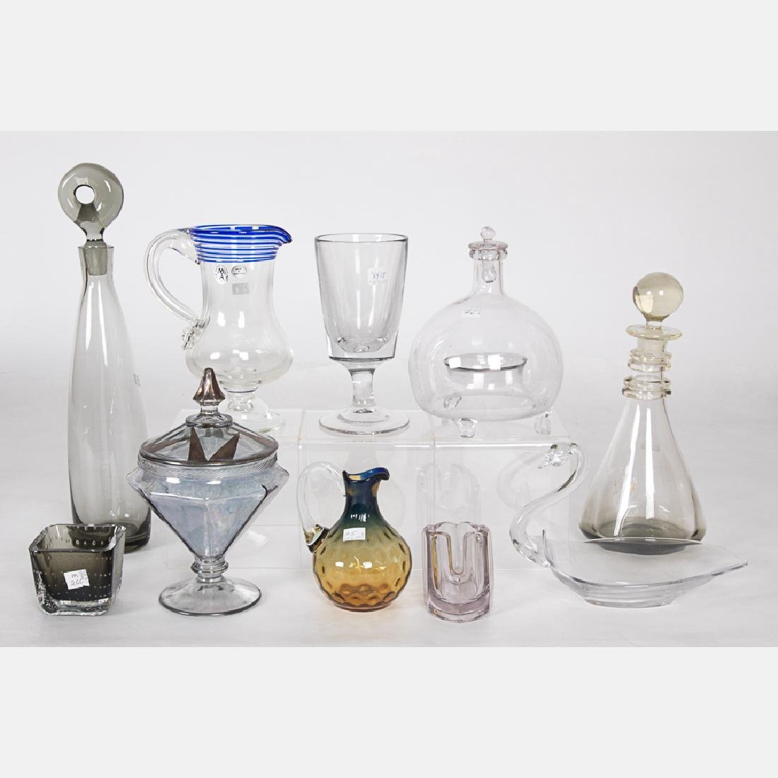 A Collection of Blown and Pressed Glass Serving and