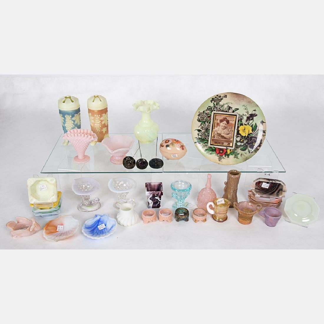 A Collection of Molded and Pressed, Colored Glass